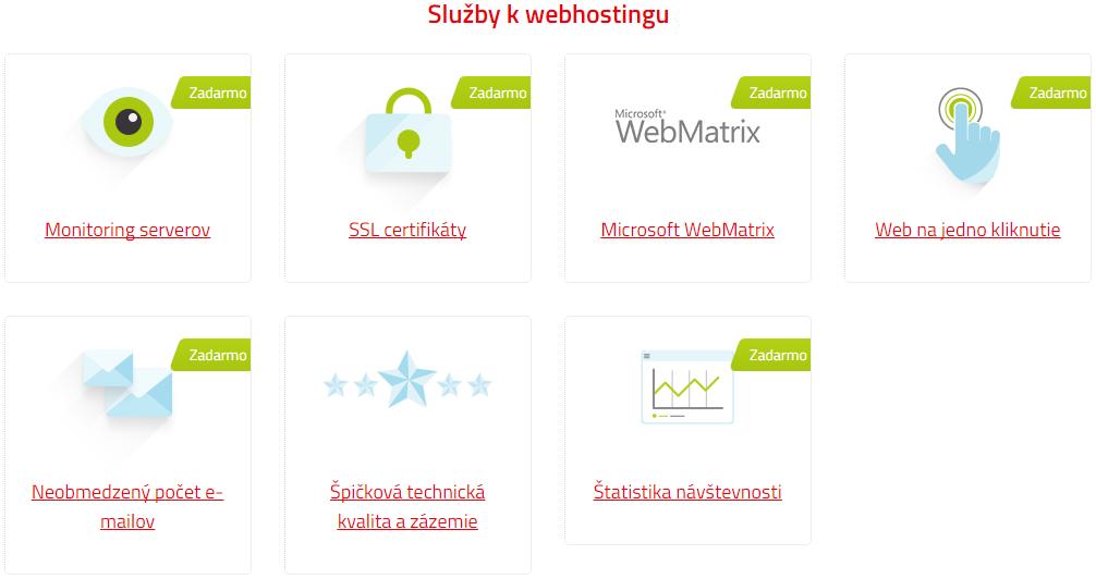 Služby k webhostingu